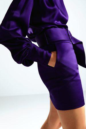 Zara Spódnica mini z paskiem z limitowanej edycji