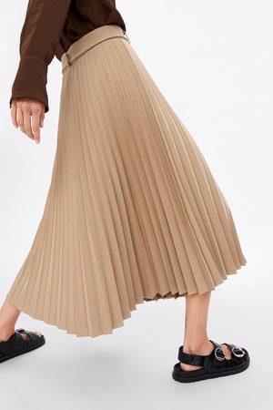 Zara Plisowana spódnica z paskiem