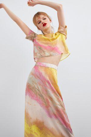 Zara Spódnica farbowana metodą tie dye