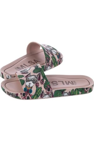 Melissa Beach Slide 3DB IV AD 32540/51493 Pink/Green (ML109-a)