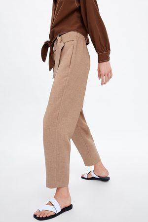 Zara Spodnie z kwadratową sprzączką