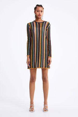 Zara Dzianinowa sukienka w paski