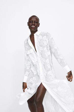Zara Tunika z haftem i kieszenią