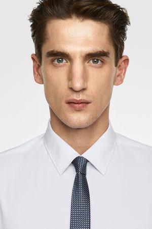 Zara Wąski żakardowy krawat