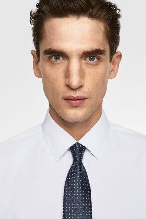 Zara Szeroki krawat w drobny deseń