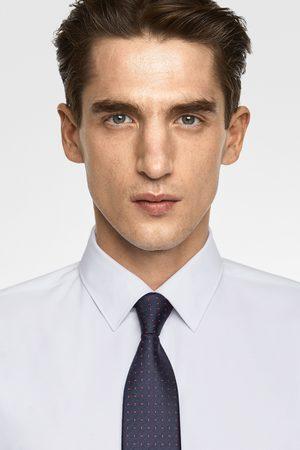 Zara Szeroki krawat z tkaniny żakardowej