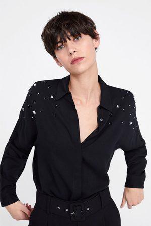 Zara Koszula oversize z aplikacjami