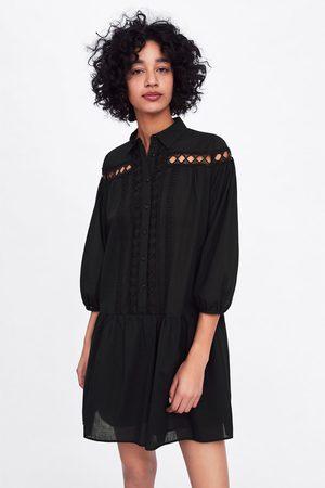 Zara Sukienka z popeliny ze wstawkami