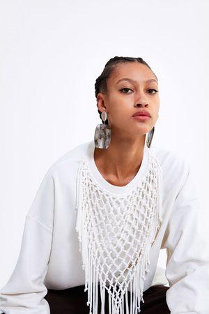Zara Bluza z frędzlami