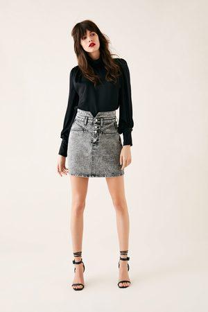 Zara Spódnica mini zw premium 80's mini acid black