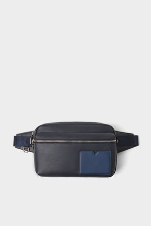 Zara Basic blue crossbody bag