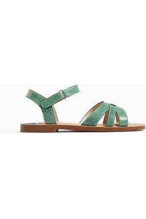 Zara Wielobarwne skórzane sandały