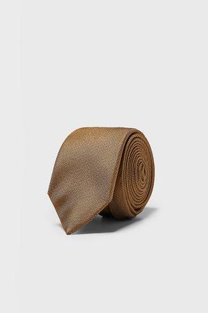 Zara Szeroki krawat z tkaniny strukturalnej