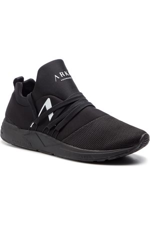 Arkk Copenhagen Sneakersy - Raven Mesh S-E15 IL1403-0099-M All Black/White