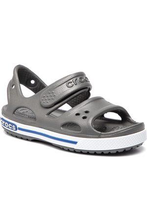 Crocs Sandały - Crocband II Sandal Ps 14854 Slate Grey/Blue Jean