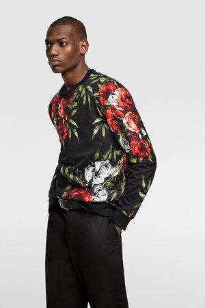Zara Bluza z nadrukiem w kwiaty