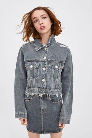 Zara Kurtka z tkaniny jeansowej typu authentic