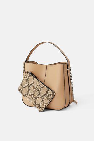 Zara Torebka typu worek z portfelem w komplecie