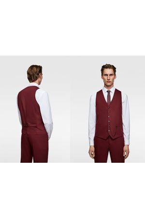 Zara Kamizelka od garnituru z tkaniny cinzato o wygodnym kroju z kolekcji tailoring
