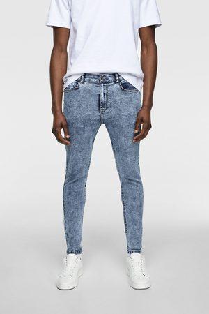 Zara Mocno dopasowane spodnie jeansowe rurki