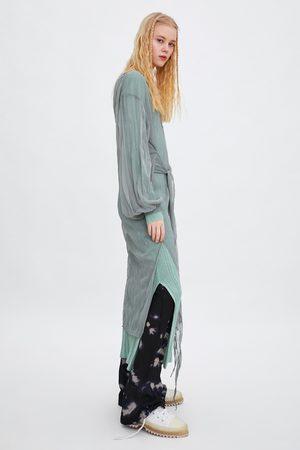 Zara Sukienka z półprzezroczystej tkaniny