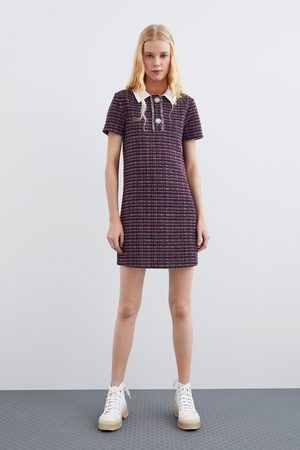Zara Sukienka z łączonych tkanin przy szyi