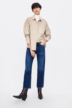 Zara Koszula oversize z drobnego sztruksu