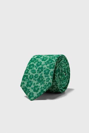 Zara Wąski krawat w kwiaty