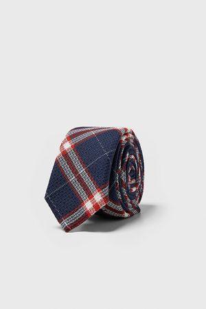Zara Wąski krawat w kratę