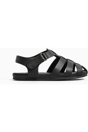 Zara Skórzane sandały rzymianki