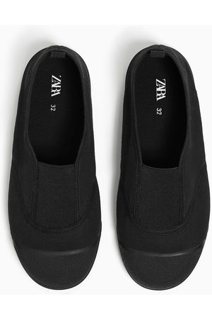 Zara Stretch cotton plimsolls
