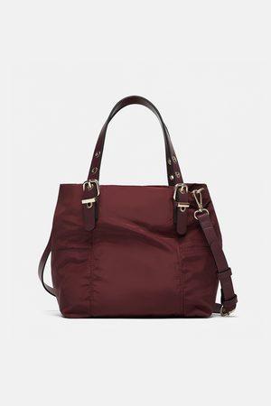 Zara Kobieta Torby shopper - Nylonowa mini torebka typu shopper