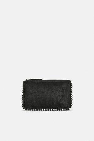 Zara Czarna torebka listonoszka z ćwiekami