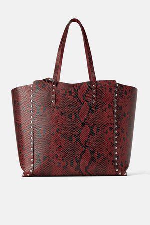 Zara Dwustronna torba typu shopper z ćwiekami