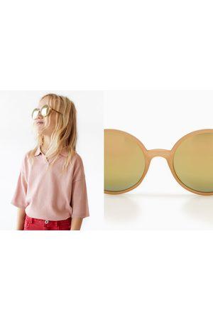 Zara Okulary przeciwsłoneczne w okrągłej oprawce w panterkę