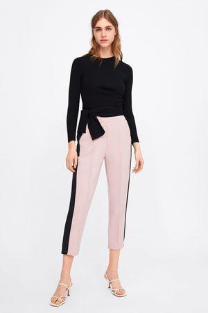 Zara Spodnie z lampasami po bokach