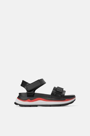 Zara Sandały sportowe na platformie