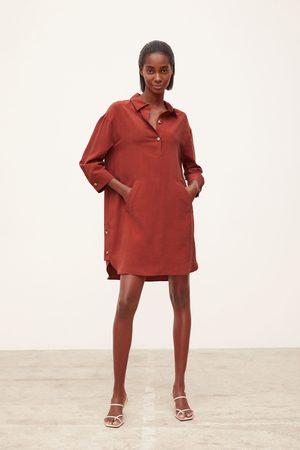 Zara Sukienka z kieszenią typu kangurka