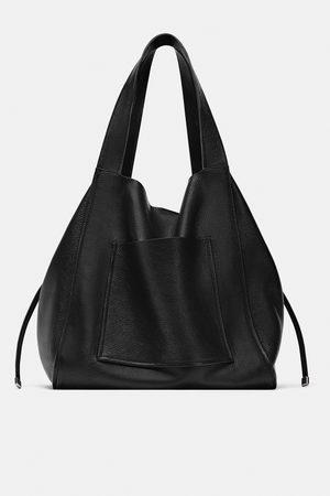 Zara Skórzana torba typu shopper
