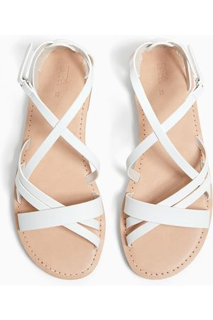 Zara Sandały ze skrzyżowanymi paskami