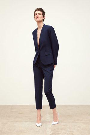 Zara Spodnie cygaretki w kratę