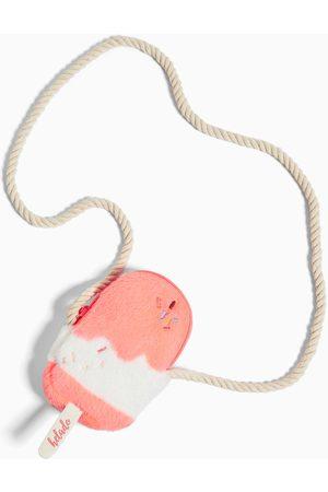 Zara Mini torebka listonoszka ze sztucznego futerka w kształcie lodów