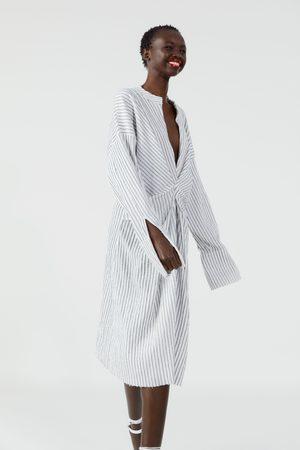 Zara Wzorzysta sukienka w paski