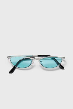 Zara Okulary przeciwsłoneczne typu kocie oczy