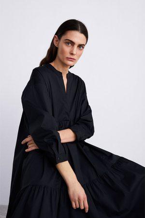 Zara Długa sukienka z popeliny