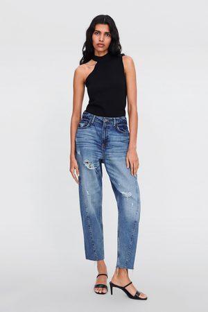 Zara Spodnie jeansowe z kolekcji z1975