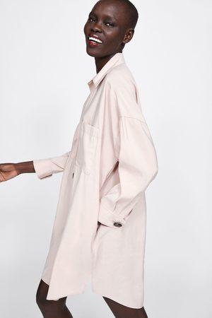 Zara Koszulowa sukienka z guzikami