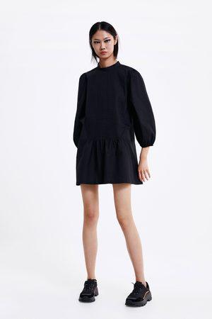 Zara Krótka sukienka z popeliny