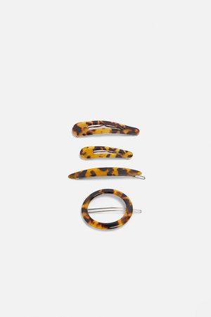 Zara Kobieta Zestawy - Komplet spinek z tworzywa octanowego