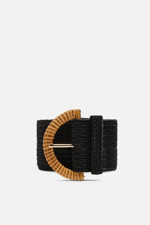 Zara Kobieta Paski - Half-moon buckle belt